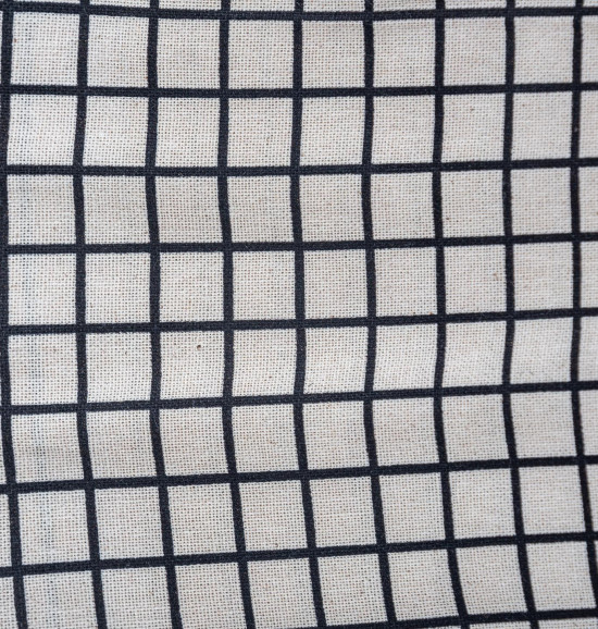 Kuchyňská utěrka Mica COLET, bavlněná, krémovo - černá, 2 ks-12454