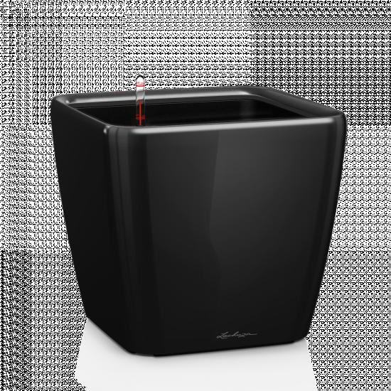 Květináč QUADRO LS 50 komplet set černý-3057