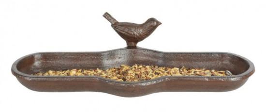Litinové krmítko - pítko pro ptáky, Esschert Design, hnědé