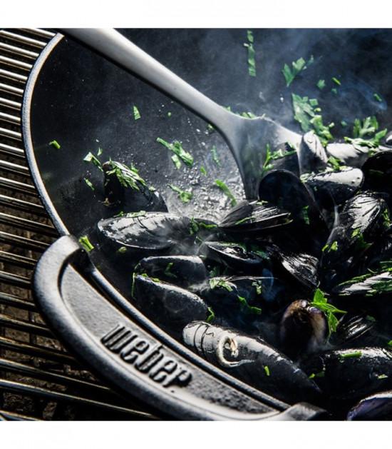 Litinový wok s pařákem, Weber GOURMET BBQ SYSTEM-1690