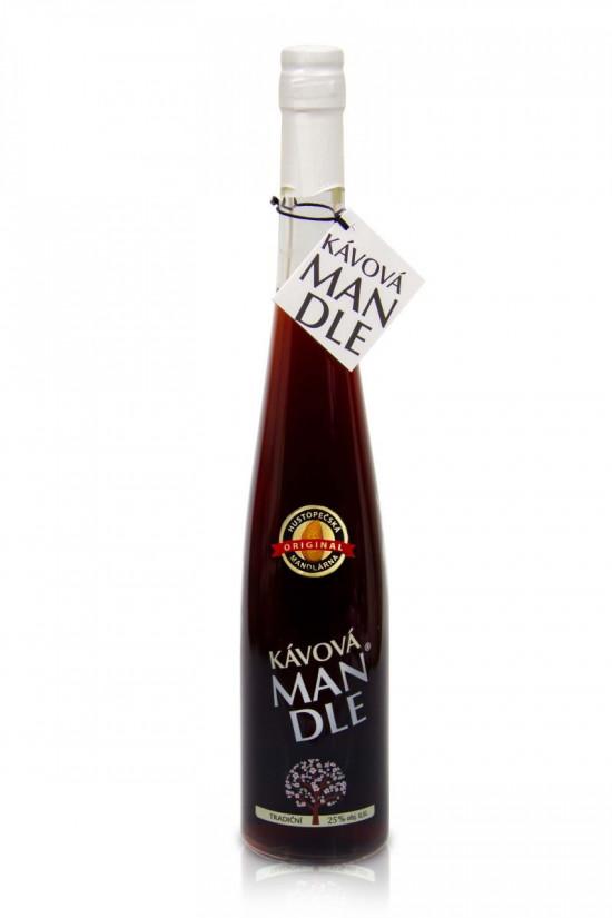 Mandlový likér, Hustopečská mandlárna Kávová mandle 25% obj., 0.5 l-5282