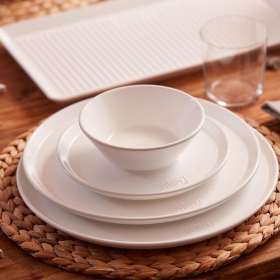 Mělký talíř Weber, průměr 27,5 cm, bílý, 2 ks-2732