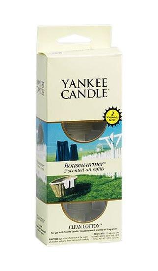 Náhradní náplň do el. zásuvky, 2ks, Yankee Candle Electric Clean Cotton-713