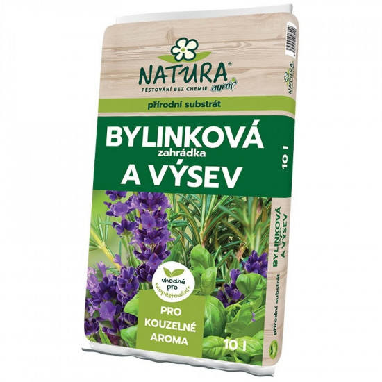 NATURA Substrát pro bylinky, zahrádku a výsev 10l