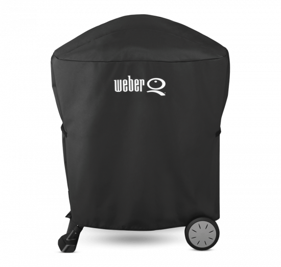 Ochranný obal Weber PREMIUM, na gril Q s přenosným vozíkem, černý-1539