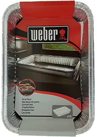 Odkapávací misky na šťávu Weber, délka 21 cm, 10 ks-1642