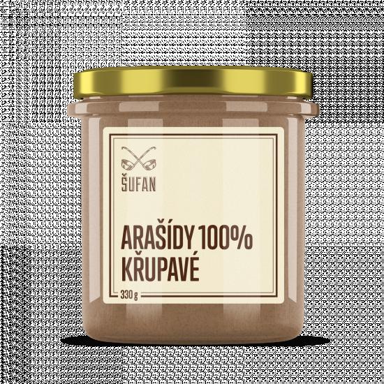 Ořechové máslo, Šufan Arašídy 100% křupavé, 330 g-5269