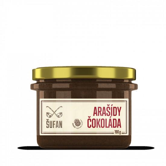Ořechové máslo, Šufan Arašídy - čokoláda, 190 g-5257