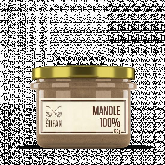 Ořechové máslo, Šufan Mandle 100%, 190 g-5262