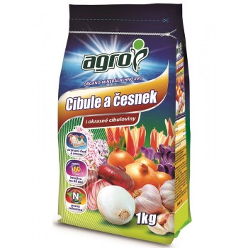Organo - minerální hnojivo na CIBULE a ČESNEK, Agro, balení 1 kg