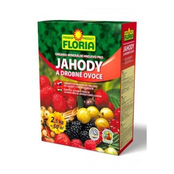 Organo - minerální hnojivo pro JAHODY a DROBNÉ OVOCE, Floria, balení 2.5 kg-3201