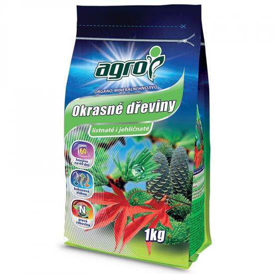 Organo - minerální hnojivo pro OKRASNÉ DŘEVINY, Agro, balení 1 kg