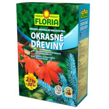 Organo - minerální hnojivo pro OKRASNÉ DŘEVINY, Floria, balení 2.5 kg