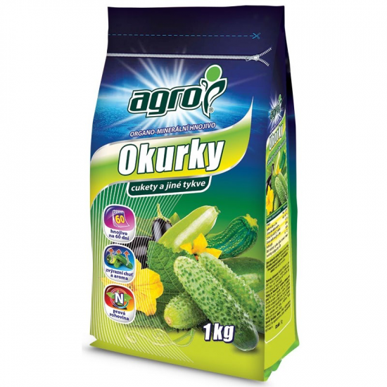 Organo - minerální hnojivo pro OKURKY a jiné TYKVE, Agro, balení 1 kg-3153