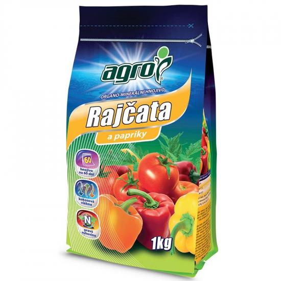 Organo - minerální hnojivo pro RAJČATA a PAPRIKY, Agro, balení 1 kg