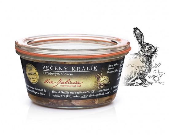 Pečený králík s vepřovým bůčkem, Via Delicia, bez lepku, 210 g-5345
