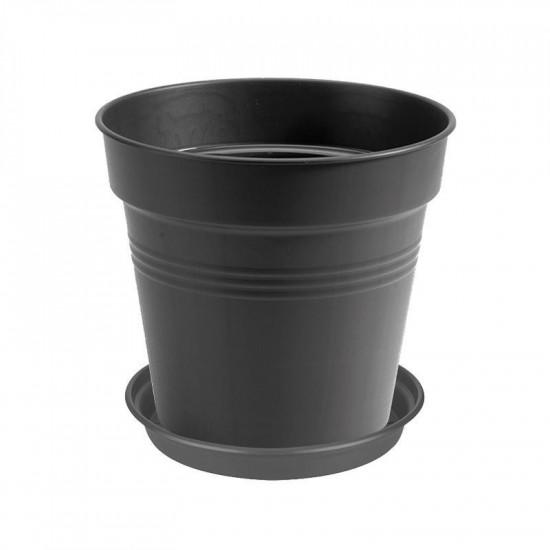 Plastový květináč elho GREEN BASICS, průměr 17 cm, černý-2743