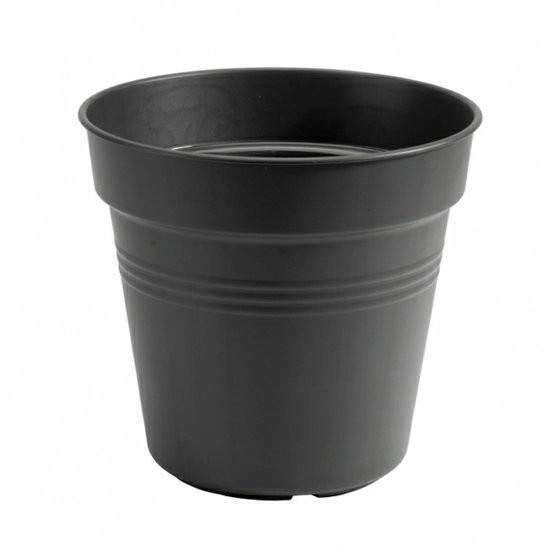 Plastový květináč elho GREEN BASICS, průměr 30 cm, černý