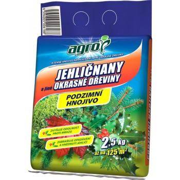 Podzimní hnojivo na OKRASNÉ DŘEVINY, Agro, balení 2.5 kg