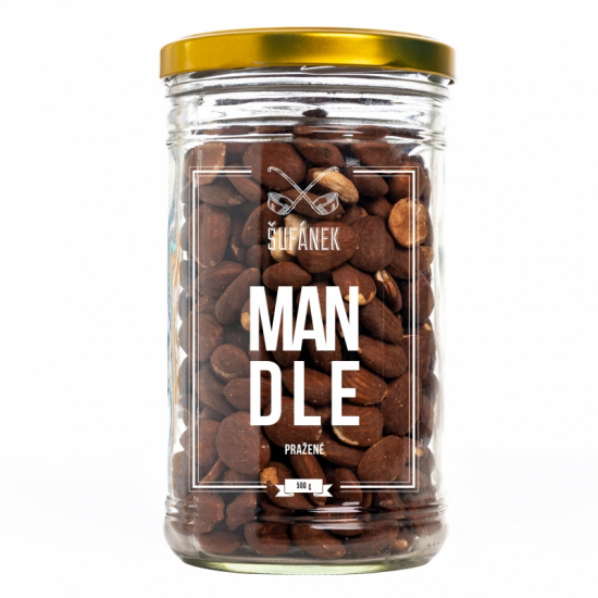 Pražené ořechy, Šufan Mandle, dóza sklo, 500 g-3178