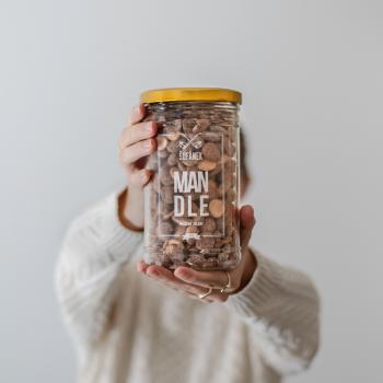 Pražené ořechy, Šufan Mandle, dóza sklo, 500 g-3179