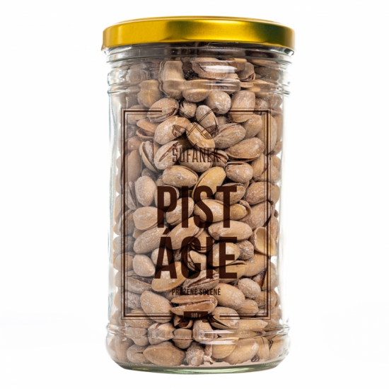 Pražené ořechy, Šufan Pistácie solené, dóza sklo, 500 g