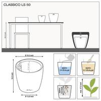 Samozavlažovací květináč Lechuza CLASSICO LS 50, komplet set, stříbrný-2813