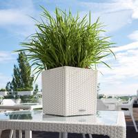 Samozavlažovací květináč Lechuza CUBE Cottage 30, komplet set, bílý-2620