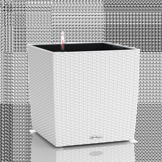 Samozavlažovací květináč Lechuza CUBE Cottage 50, komplet set, bílý