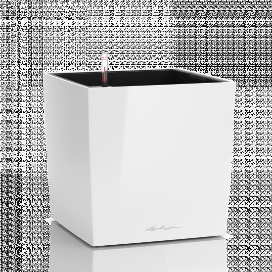 Samozavlažovací květináč Lechuza CUBE Premium 40, komplet set, bílý