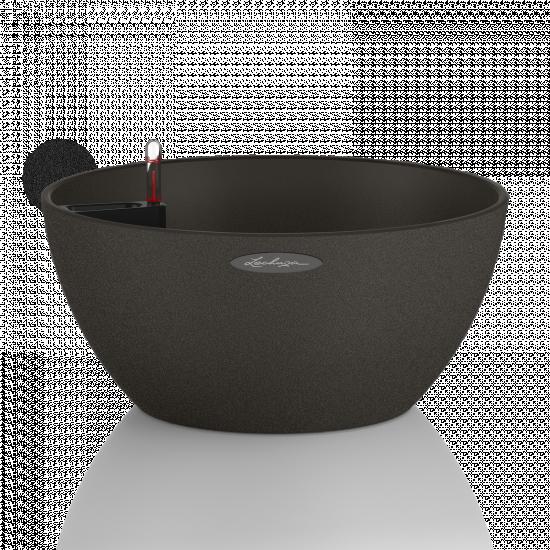 Samozavlažovací květináč Lechuza CUBETO Stone 30, komplet set, černý-2667