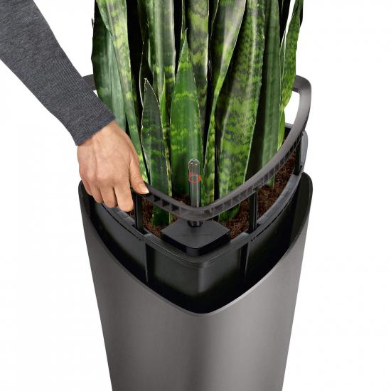 Samozavlažovací květináč Lechuza DELTA 30, komplet set, antracitový-2930