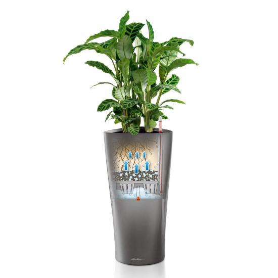 Samozavlažovací květináč Lechuza DELTA 30, komplet set, antracitový-2931