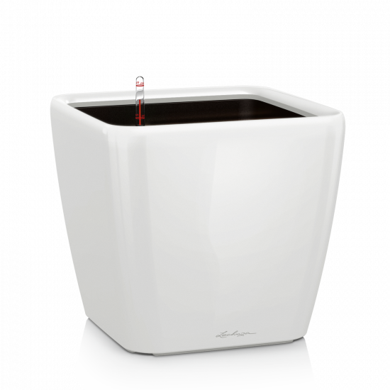 Samozavlažovací květináč Lechuza QUADRO LS 28, komplet set, bílý-3009