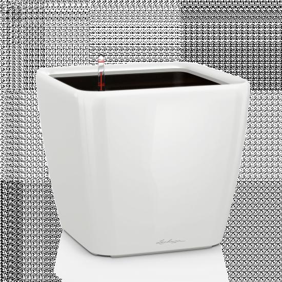 Samozavlažovací květináč Lechuza QUADRO LS 35, komplet set, bílý-3027