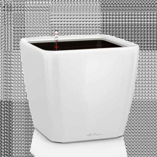 Samozavlažovací květináč Lechuza QUADRO LS 50, komplet set, bílý