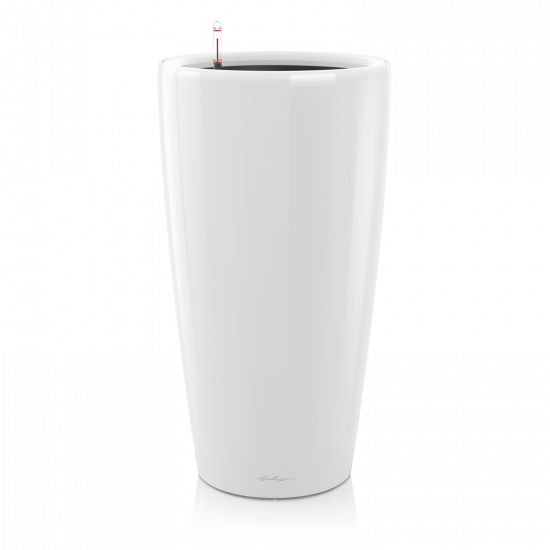 Samozavlažovací květináč Lechuza RONDO 32, komplet set, bílý-3099