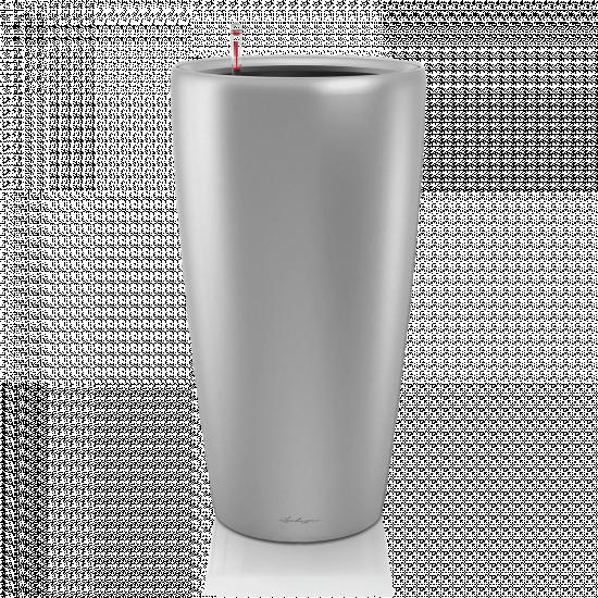 Samozavlažovací květináč Lechuza RONDO 32, komplet set, stříbrný-3108