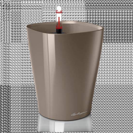 Samozavlažovací stolní květináč Lechuza DELTINI 14, komplet set, taupe-3096