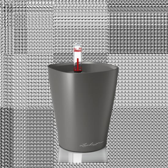 Samozavlažovací stolní květináč Lechuza MINI DELTINI 10, komplet set, antracitový-3083
