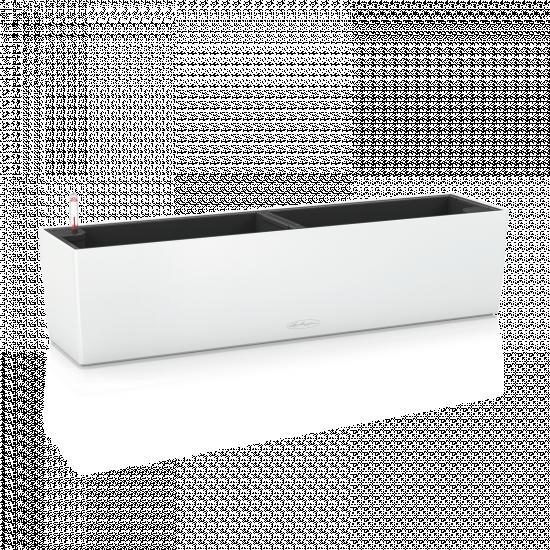 Samozavlažovací truhlík Lechuza BALCONERA hladký 80 - komplet set, bílý