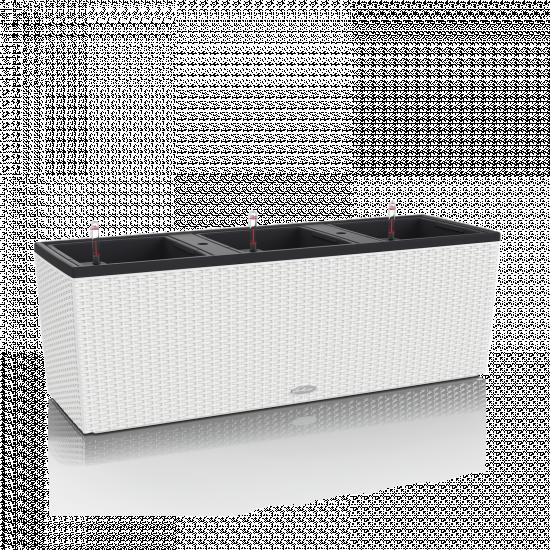 Samozavlažovací truhlík Lechuza BALCONERA TRIO 130 - komplet set, bílý