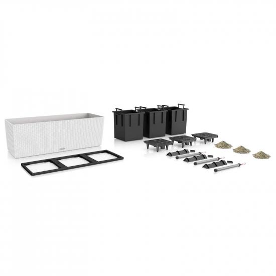 Samozavlažovací truhlík Lechuza BALCONERA TRIO 130 - komplet set, bílý-3457