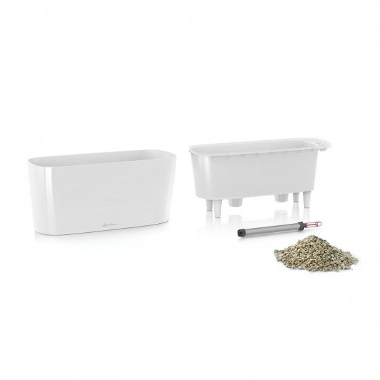 Samozavlažovací truhlík Lechuza DELTA 20, komplet set, bílý-2918
