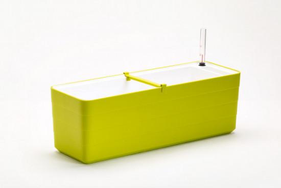 Samozavlažovací truhlík Plastia BERBERIS 60 - komplet set, zeleno-bílý-3600