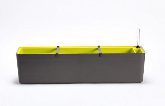 Samozavlažovací truhlík Plastia BERBERIS 80 - komplet set, antracitovo-zelený-3590
