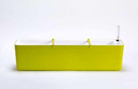 Samozavlažovací truhlík Plastia BERBERIS 80 - komplet set, zeleno-bílý-3599