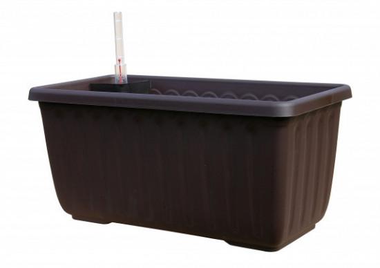 Samozavlažovací truhlík Plastia SIESTA LUX 40 - komplet set, čokoládový-3574