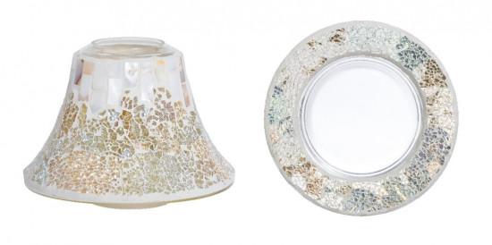 Stínítko a talíř, velký, Yankee Candle Gold and Pearl-4799