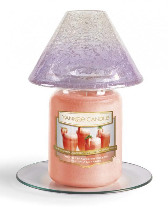 Stínítko a talíř, velký, Yankee Candle Savoy Purple-1161